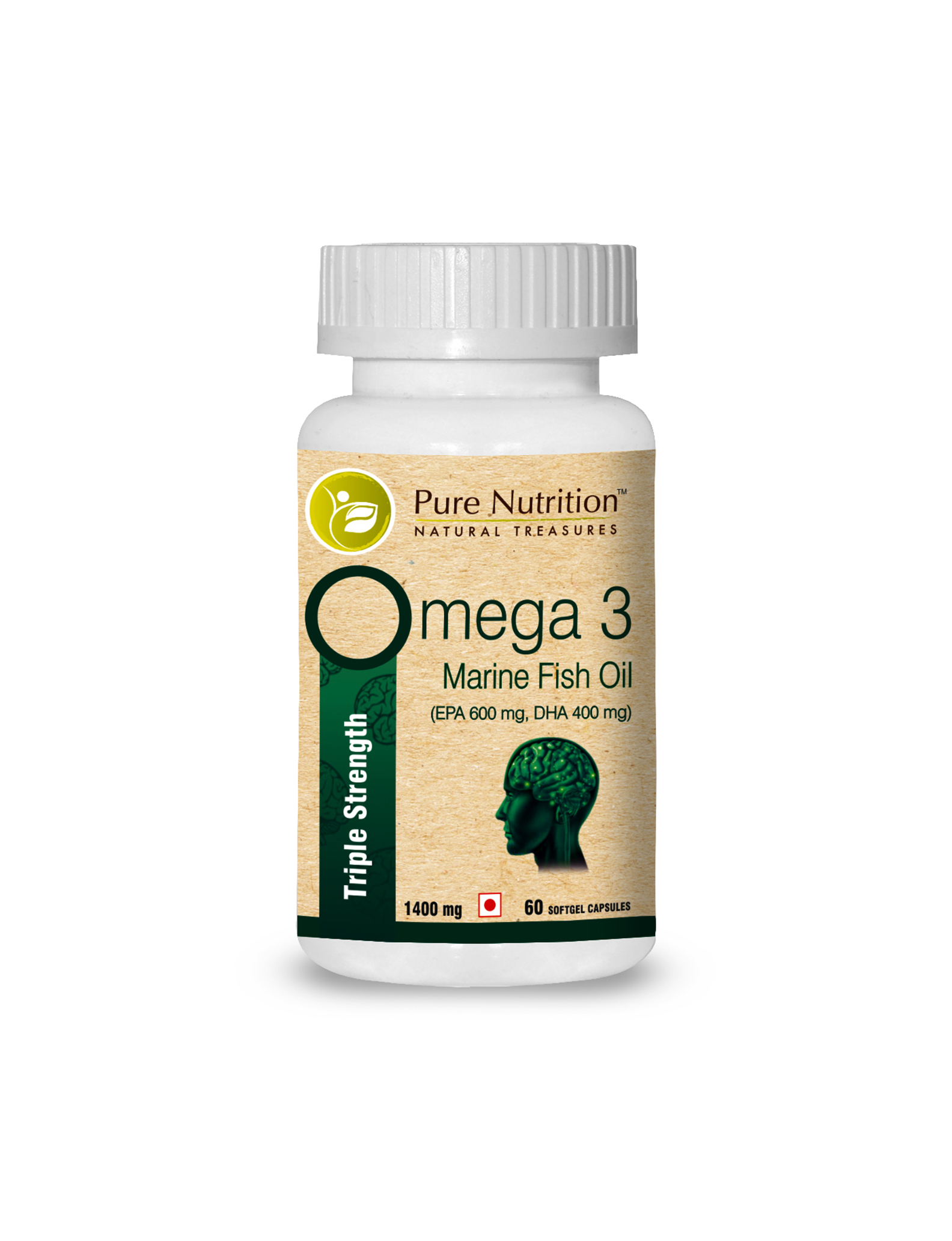 Omega 3 Marine Fish Oil Capsules Helps Improve Brain Functions 1400 Mg Buy Online At Health Total