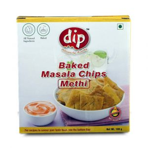 Roasted Whole Wheat Methi Chips 180 gm - Dip