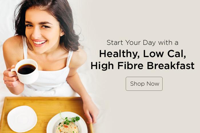 healthy, low cal, high fibre breakfast